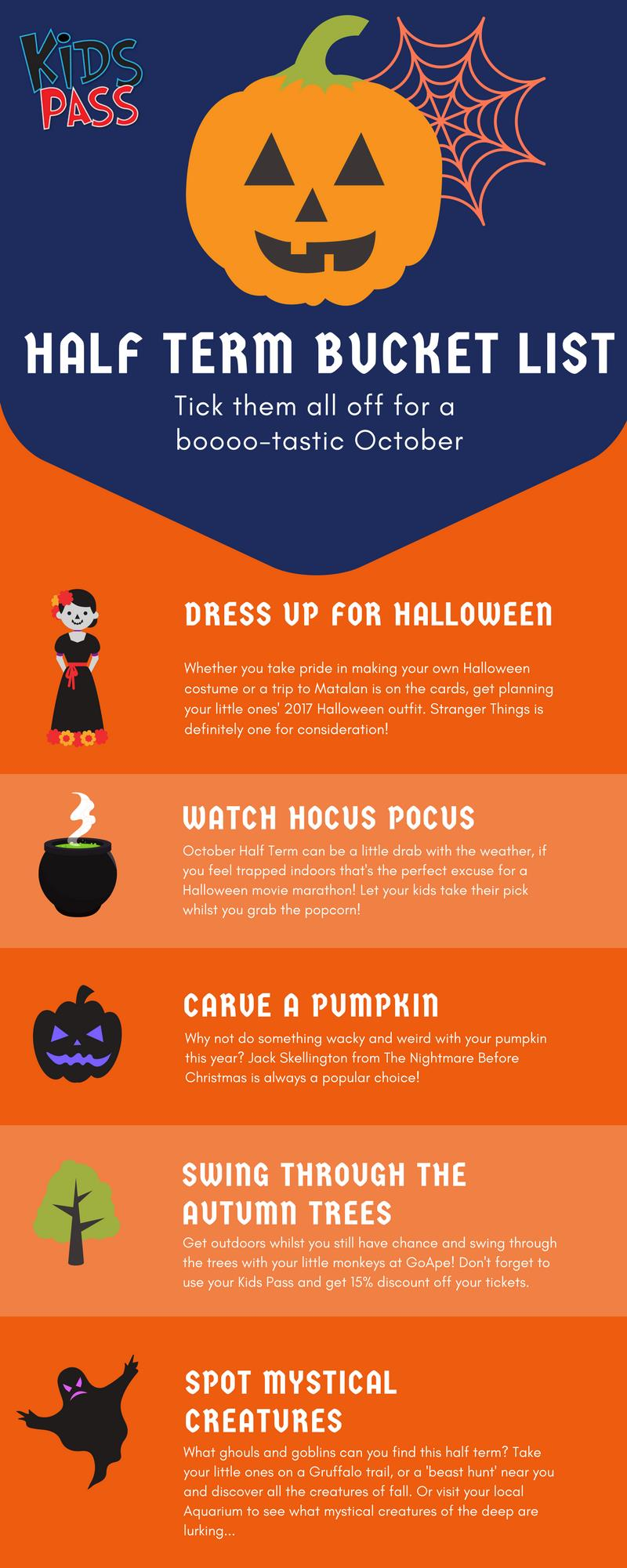 October Half Term Bucket List