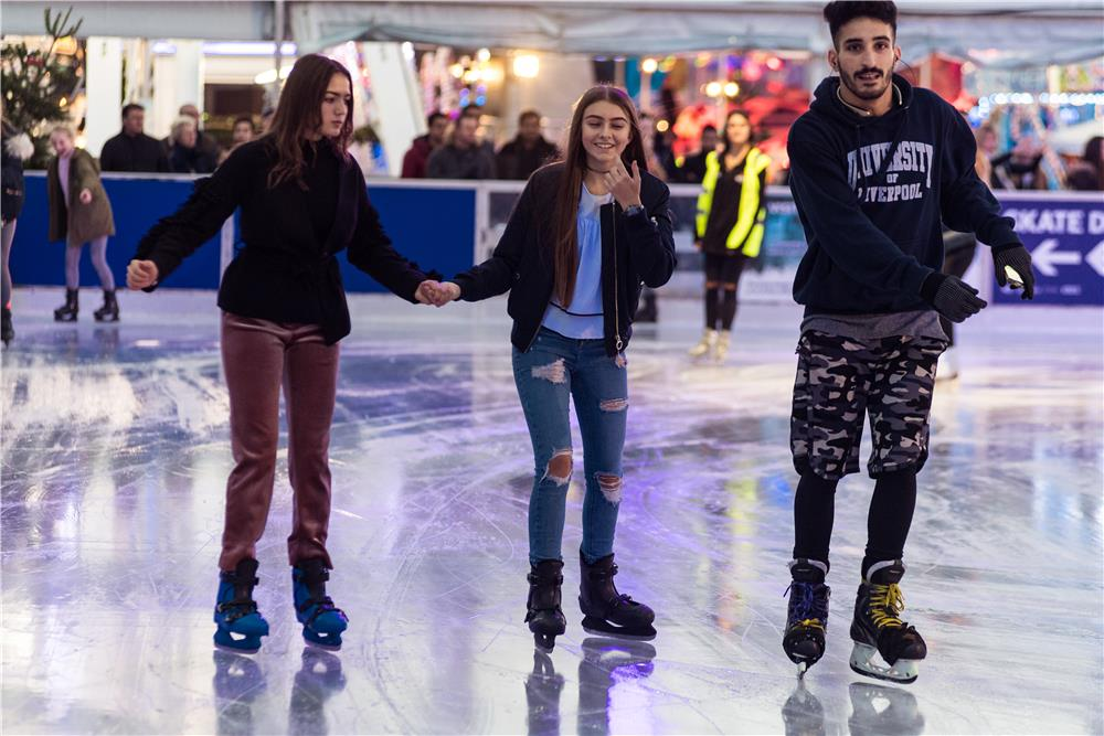 Liverpool Christmas Ice Festival's Ice Rink