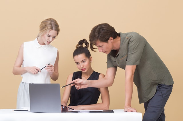 employees collaborating in the workplace